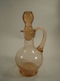 VINTAGE PINK DEPRESSION GLASS DECANTER HANDLE CAP