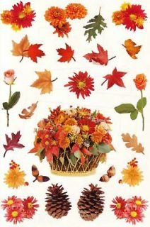 Mrs. Grossmans Fall Autumn Leaves Flowers 25 9x6 Giant Sheets