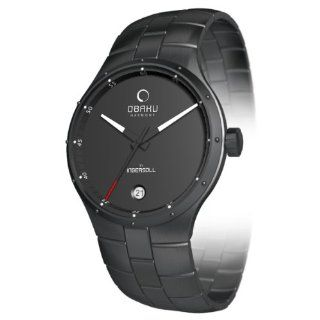 Obaku Mens V111 V111GBBSB Black Stainless Steel Quartz Watch with