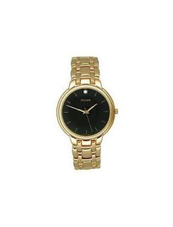 Pulsar Gold Tone Bracelet Collection Black Dial Mens Watch #PRS470