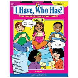 Creative Teaching Press I Have Who Has Math Activity Cards Grades 1 2