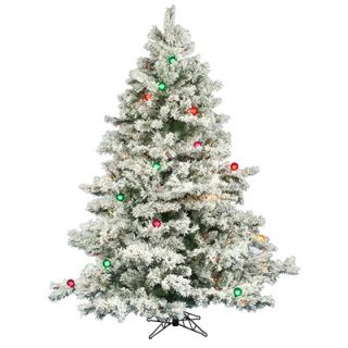 Foot Flocked Alaskan Pre Lit Christmas Tree with 600 Multicolor