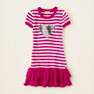 girl   sequin heart sweater dress  Childrens Clothing  Kids Clothes