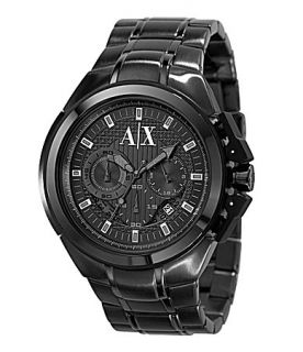 Armani Exchange Black Chronograph Watch  Dillards