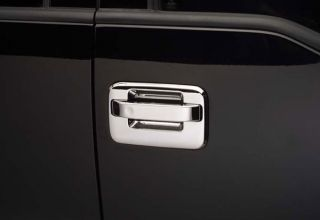 Sample Image of Product on Ford F 150 Door Handle Before Chrome