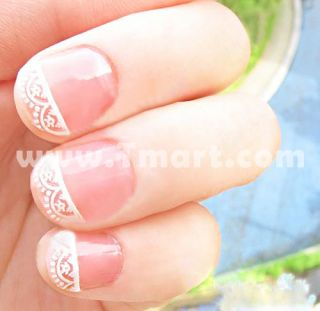2D Lace Style Nail Art Stickers Decals NA01   Tmart
