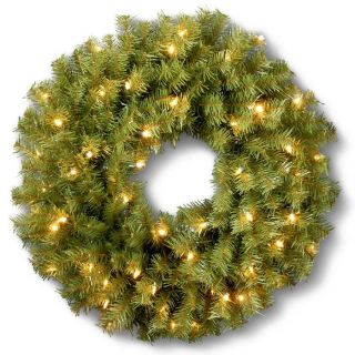 Pre Lit Outdoor Christmas Decorations   Fir Wreath—Buy Now