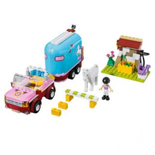 Beautifully detailed Lego Friends set featuring Emma and her horse