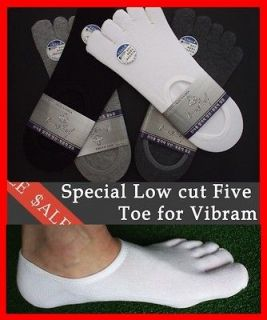 NEW 5prs UNIQUE Mens LOW CUT Five Toe SOCKS Special for FINGER SHOES