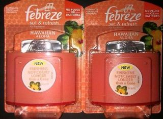LOT of Febreze Set & Refresh Air Freshener Hawaiian Aloha NIP