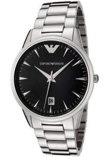 Emporio Armani AR2440 Watches,Mens Black Dial Stainless Steel, Mens