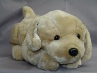 LIFELIKE SHORT TAIL GOLDEN RETRIEVER YELLOW LAB PUPPY DOG PLUSH TOY