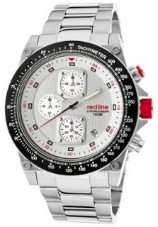 Red Line 50040 22 Watches,Mens Simulator Chronograph Silver Dial