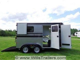 Hawk 2 Horse Deluxe Trailer w/ Dressing Room NO HIDDEN RESERVE $154 a