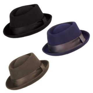 Man Classic 100% Wool Fedora Flat Top Hat Pork Pie trilby Upturn Short