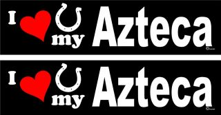 love my Azteca Horse trailer bumper stickers decals LARGE 3.0 X