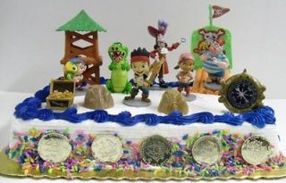 the Neverland Pirates Birthday Cake Topper w Jake, Izzy, Cubby, Hook