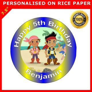 JAKE AND THE NEVERLAND PIRATES IZZY BIRTHDAY CAKE TOPPERS DECORATIONS