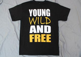 YOUNG WILD AND FREE T SHIRT JERSEY SHORE SNOOP DOGG WIZ KHALIFA