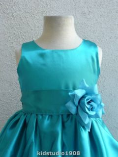 teal flower girl dresses in Kids Clothing, Shoes & Accs
