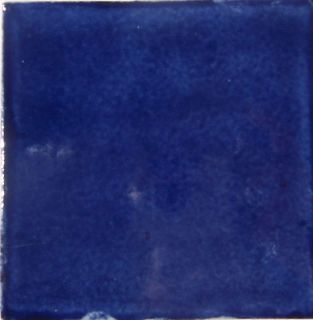 90 mexican hand painted tile 4 washed blue color s019