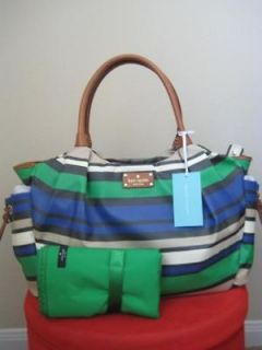 nwt kate spade shoreline stripe stevie baby diaper bag time