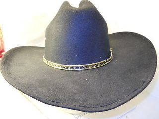 WESTERN EXPRESS INC. MEXICO BLACK FELT COWBOY HAT 58 SIZE 7 1/4