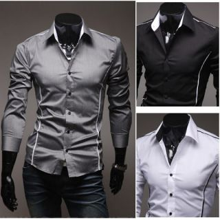 New 2012 Collection Mens Stylish Luxury Formal Casual Slim Fit Dress