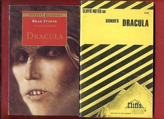 Dracula by Bram Stoker & Cliff Notes study guide   Shipping Free