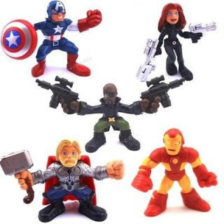 SUPER HERO SQUAD The Avengers Thor Nick IRON MAN FIGURE XMAS GIFT F666