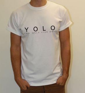 YOLO YOU ONLY LIVE ONCE DRAKE LIL WAYNE YOUNG MONEY TSHIRT T SHIRT