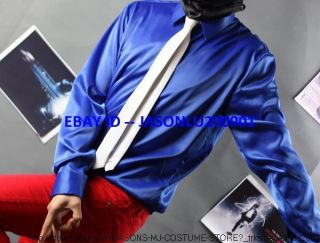 ​AEL JACKSON SMOOTH CRIMINAL SHIRT WITH WITH WHITE TIE MJ COSTUME