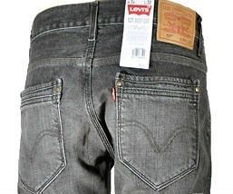 NEW TAG MEN LEVIS JEANS 527 SLIM BOOT CUT 32527 0002 Tainted Black