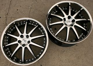 NICHE SPA 22 BLACK RIMS WHEELS LEXUS LS430 STAGGERED / 22 X 9.0/10.5
