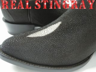 NEW GENUINE AUTHENTIC STINGRAY SKIN COWBOY BOOTS WESTERN BIKER RODEO