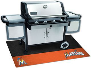FLORIDA MIAMI MARLINS MLB HEAVY DUTY BBQ GRILL PATIO MAT RUG INDOOR