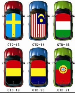 BMW MINI COOPER Car Roof Union Jack Country Flag Graphic Vinyl Sticker