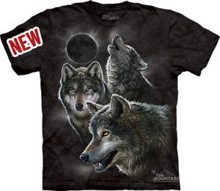 THE MOUNTAIN ECLIPSE WOLVES HOWLING MOON WOLF PACK SIZE XL EXTRA LARGE