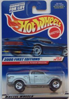 2000 hot wheels first edition dodge power wagon 25 36