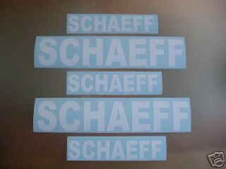 schaeff loader mini excavator bagger stickers decals
