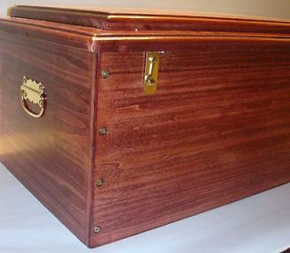 Wooden Wood Pet Casket   Deluxe 22   Cherry   MADE IN USA