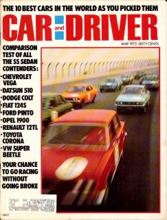 ,MAY 1972,CHEVY VEGA,VW BEETLE,RENAULT 12 TL,OPEL,HOT ROD MAGAZINE