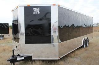 24 8.5X24 ENCLOSED RACE CARGO CAR HAULER TRAILER   LOADED