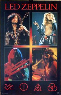 led zeppelin 23x35 solos concert collage poster 1998 zoso one