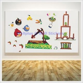 Angry Birds 3 Nursery Kids Children Boys Girls Wall Stickers Decals