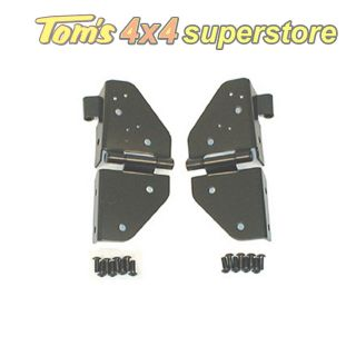11209.01 Black Windshield Hinges PAIR, Jeep Wrangler CJ, YJ 1976 1995