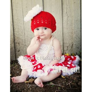 xmas newborn baby red white polka dots minnie mouse pettiskirt tutu 0