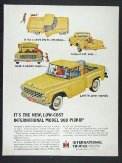 1963 INTERNATIONAL HARVESTER Model 900 Pickup Truck magazine Ad