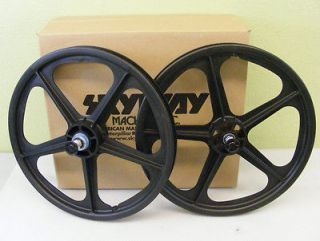 skyway tuff ii mag wheels black 20 freewheel new bmx
