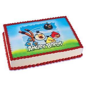 ANGRY BIRDS Cake Decoration Party Image EDIBLE Topper Kit Set Birthday
